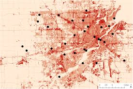 Toledo Ohio Map Urbanization Alters Communities Of Flying Arthropods In Parks And
