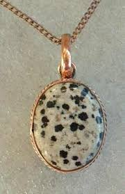 solid copper necklace images Dalmation jasper necklace pendant solid copper setting jewelry jpeg