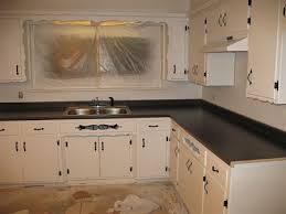 Outdated Kitchen Cabinets Painting Old Flat Front Kitchen Cabinets Kitchen Overhaul Ideas