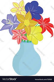 Flowers In A Vase Images Bouquet Of Flowers In Vase Royalty Free Vector Image