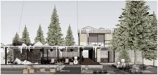 sketchup texture free sketchup model modern house 24 winter