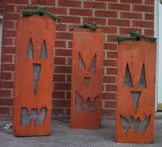 lighted o lantern pumpkin wood craft pattern for fall