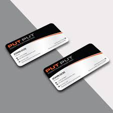 civil contractor bold professional business card design for put put contracting