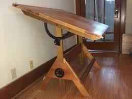 Ergonomic Drafting Table Solid Wood Portable Drafting Table U2014 Derektime Design