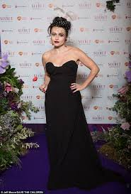 helena bonham carter goes glam in strapless dress for save the