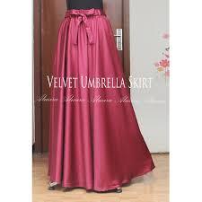 rok panjang muslim rok panjang muslimah murah velvet umbrella skirt warna broken