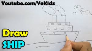 how to draw a ship step by step youtube