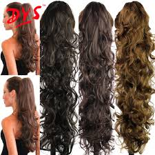 Curly Fusion Hair Extensions by 30inch False Hair Ponytails Artificial Fake Hair Pony Tail
