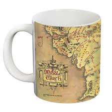 The Hobbit Map The Lord Of The Rings Middle Earth Map Giant 20 Oz White Mug