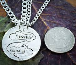 Necklaces With Names Engraved Biker Couples Necklaces With Custom Names Engraved Motorcycle