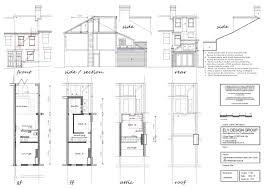 terraced house loft conversion floor plan loft conversion drawings ely design group