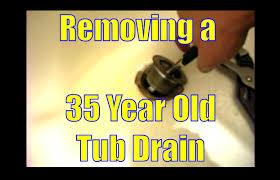 bathtub stopper leaks how to fix a bathtub drain removing 35 year old tub drain youtube