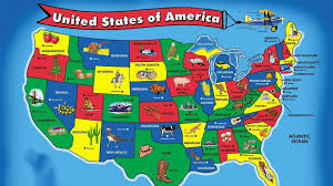 Florida Attractions Map Map Of Usa For Kids 50 States Song For Kids Travel Maps And