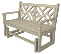 Recycled Plastic Outdoor Furniture Polywood Chippendale Glider Quality Outdoor Furniture