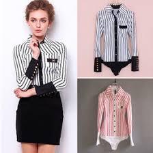 bodysuit button down shirt suppliers best bodysuit button down