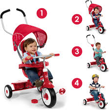 tricycle cartoon radio flyer 4 in 1 trike red walmart com