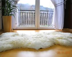 White Fur Rugs Sheepskin Rug Etsy