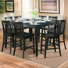 bayle black formal dining room furniture set oval table black with