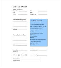 car invoice template u2013 8 free sample example format download