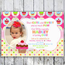Create 1st Birthday Invitation Card For Free Cupcake 1st Birthday Invitations Vertabox Com