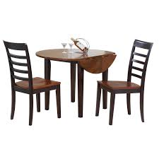Made Dining Chairs Dining Room 3 Pieces Dining Sets In Winsome Lynden Theme With Two