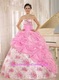 quinceanera pink dresses printed quinceanera dresses cheap printed fabric quince gowns