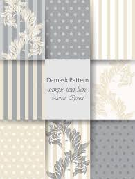 decoration ornaments pattern set vector classic baroque paper