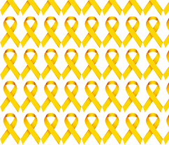 ribbon fabric gold ribbon for childhood cancer awareness fabric tessa b