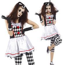 scary clown halloween costumes ladies scary clown jester harlequin honey halloween fancy dress