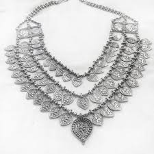 silver necklace images Tribal silver necklace silberuh jpg