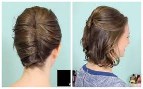 easy steps for hairstyles for medium length hair french twist u0026 half updo for short hair youtube