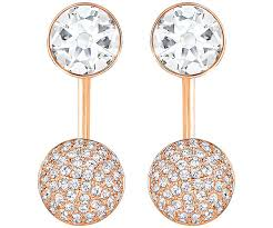 earring pierced forward pierced earring jackets white gold plating usa