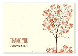 tree themed thank you cards on plantable paper tree by