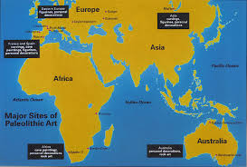Stone Age World Map by Paleolithic Art Map Emergence Of Cognitive Personhood In The
