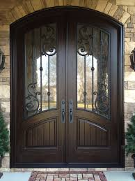 amazing double entrance doors with glass tile entryway ideas