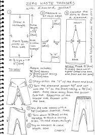 free pattern pajama pants zero waste trousers with gusset pattern sewing inspiration