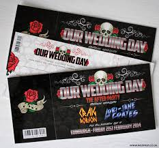wedding invitations edinburgh skulls and roses rock n roll wedding invites wedfest