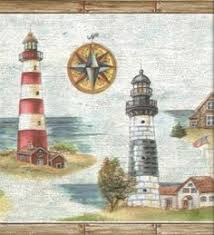 coastal lighthouse wallpaper border wall paper and stencil