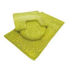 Bathroom Contour Rugs Chenille Bath Mat Rug Set 100 Microfiber Noodle Bathroom Mat