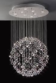 Sphere Chandelier With Crystals Cool Stylish Chandelier Sparkling Floating In Sphere