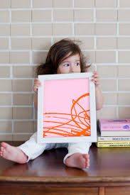 transform kiddo scribbles into modern art a little craft in your day
