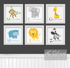 Letter Decorations For Nursery by Zoo Safari Animals Chevron And Letters Nursery Art Diy Printable