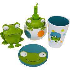Bathroom Accessories Walmart Com by Peeking Frogs 4pc Bath Accessory Set Walmart Com Kids Bathroom