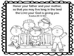honor your father and mother coloring page pirate may 2013