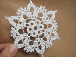 silver crochet snowflakes set of 6 christmas home decors