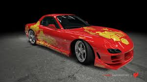 mitsubishi evo 7 2 fast 2 furious mazda rx 7 2 fast 2 furious by outcastone on deviantart