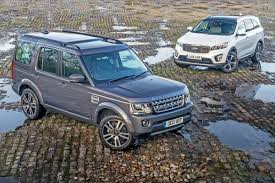 blue land rover discovery used land rover discovery 4 vs new kia sorento used vs new car