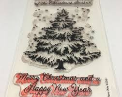 Arts And Crafts Christmas Tree - christmas tree stamp etsy