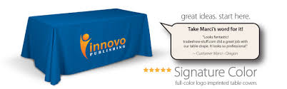 8 ft table cloth with logo excellent trade show table cloths with logo throughout trade show