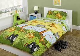 Girls Jungle Bedding by Kids Childrens Single Bed Size Girls Boys Duvet Cover Quilt Set